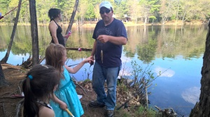 Mother's day fishing with Chris and the girls